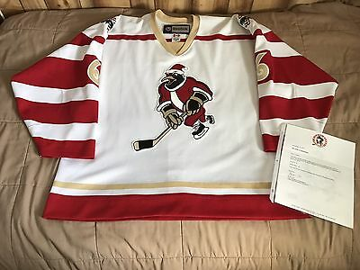 Wilkes Barre Penguins Game Worn Used Christmas Specialty AHL Authentic Jersey
