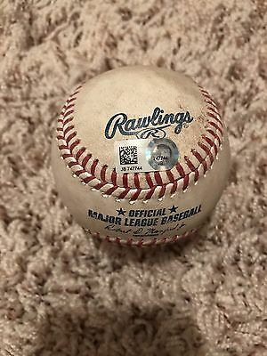 5/07/2017 Yankees @ Cubs Record-setting 18-innings game Game used baseball