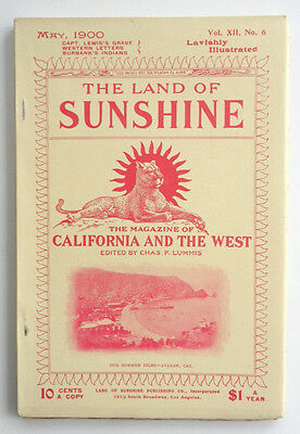 The Land of Sunshine May 1900 XII No 6 Western Letters BurBank's Indians