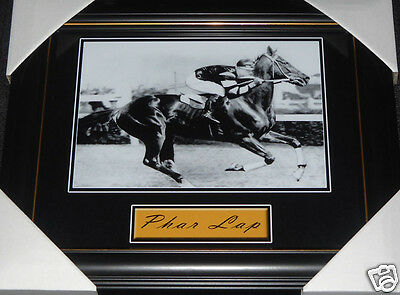 1930 Melbourne Cup Champion Race Horse Phar Lap Jim Pike Small Print Framed