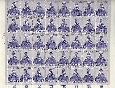 Vatican City - #465 - Holy Infant Of Prague Full Sheet (1968) Mnh