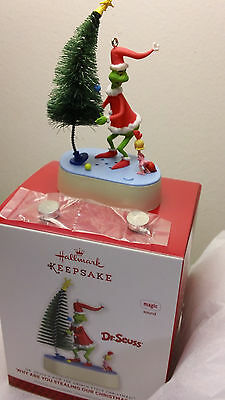"NIB 2013 Hallmark Grinch Ornament ""Why Are You Stealing Our Christmas Tree?"""