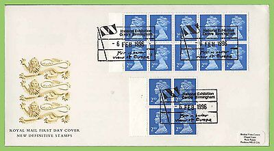 G.B. 1996 2nd Class booklet panes on Royal Mail First Day Cover, Birmingham