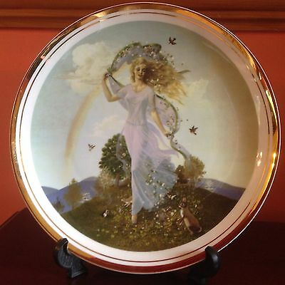 The Seasons of the Year by Charlotte Sternberg - decorative plate