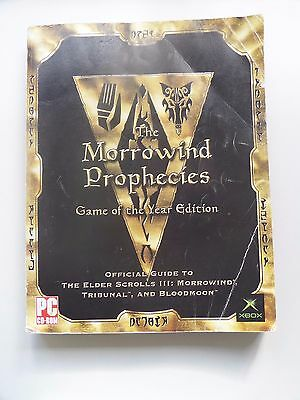 The Morrowind Prophecies Game Of The Year Official Strategy Guide Book Xbox