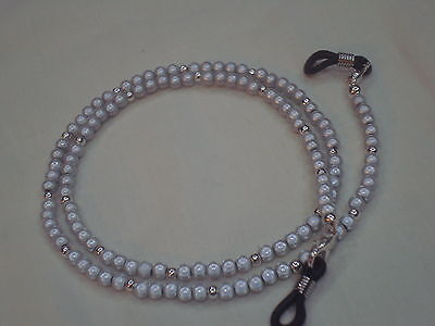 Eyeglass spectacle sunglass chain necklace grey miracle bead unisex ideal gift