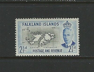 FALKLAND ISLANDS - #110 - 2 1/2d KING GEORGE VI ISSUE (1952) MLH