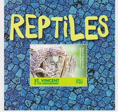 St Vincent & The Grenadines - Reptiles, 2015 - 1517 S/S MNH