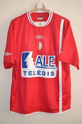 Retro Standard Liege Umbro Ale Teledis Home Shirt Uk Size Xl Mens