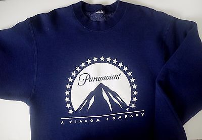 Men's Vintage 90's Paramount Movie Studio Sweatshirt Pullover Crew Neck S M VTG