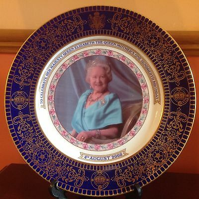 AYNSLEY commemorative plate for The Queen Mother's 100th birthday