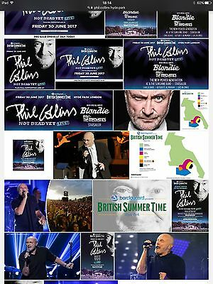2 x BST Hyde Park Phil Collins Tickets-Friday 30th June 2017