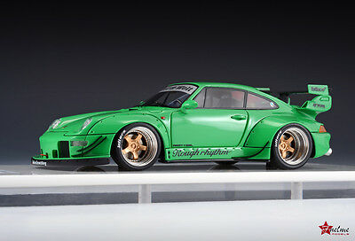 1/43 FuelMe Model Porsche 911 993 RWB Wide Body RAUH Welt Green NEW!