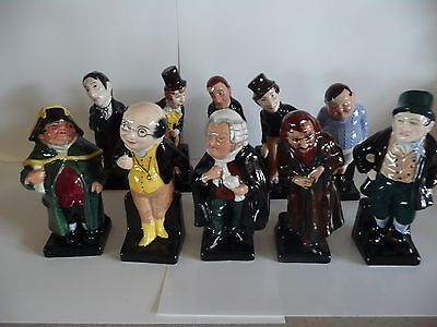 """10 X Royal Doulton Charles Dickens Figures  4"""" Size -  CHARITY SALE"""
