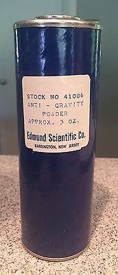 Vintage 1960s Edmund Scientific Anti-Gravity Powder Nearly Full Container