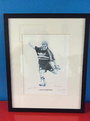 Signed Limited Edition Print Of Jonny Wilkinson By Ross Nesdale