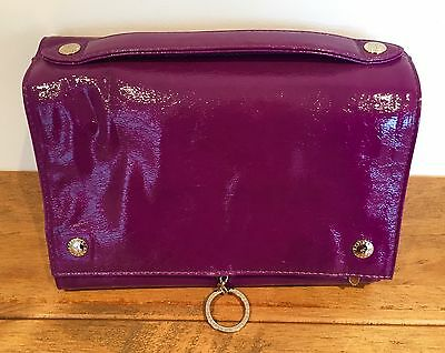 Aspinal of London Purple Leather Hanging Wash Bag RRP £195 Brand New