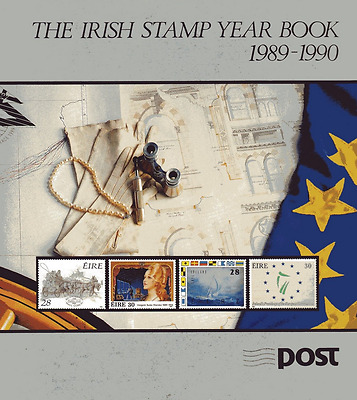 Irish Stamp Year Book 1989 - 1990 Complete W/ Stamps  Edition #5059 of 8000