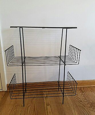 Mid Century Modern Wire Record Shelf Plant Stand Book Shelf VINTAGE Eames Era