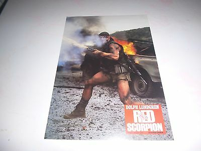 VERY RARE RED SCORPION LOBBY CARDS x 7 (NEW) DOLPH LUNDGREN ONLY ONES ON EBAY !
