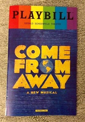 Come From Away pride playbill! Original Broadway Cast! - Free next day shipping!