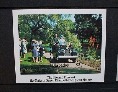 BARBADOS 1985 Queen Mother. SOUVENIR SHEET. Mint Never Hinged. SGMS783.