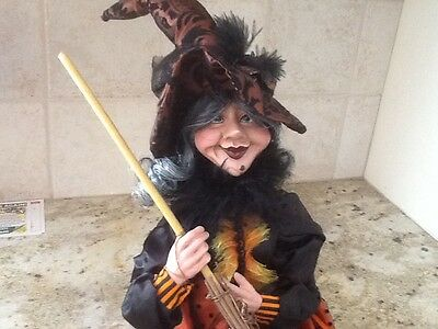 "Halloween 24"" Sitting Witch decoration Fall Harvest  Figure doll"