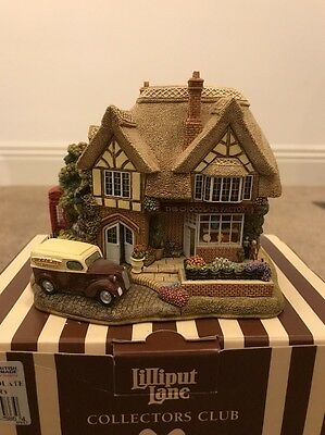 Lilliput Lane - The Chocolate Factory- Special Edition Inc Signed Deeds