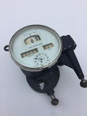 Vintage Speedometer 20'S Bevel Glass Clock 23 1923 Cadillac Buick Vintage Dash