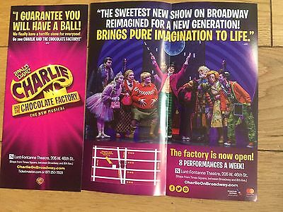 Charlie And The Chocolate Factory New Broadway Musical Handbill/flyers X 2
