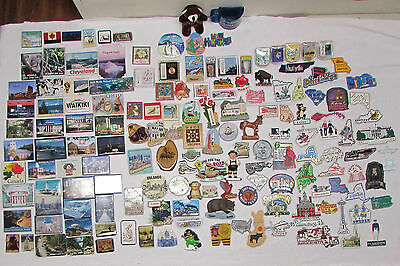 165 vintage refrigerator magnets State Country Souvenir Vacation Travel Trip GUC