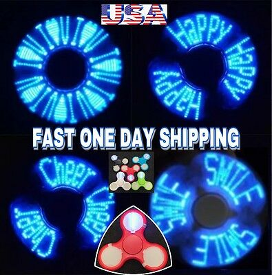 TEXT LED TRI SPINNER FIDGET(THE MASTERPIECE),11 LEDs12 TEXT MESSAGES & PATTERNS