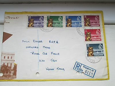 SINGAPORE 1st June 1959 First Day Cover FDC + BLOEMFONTEIN 28th Feb 1954 FDC