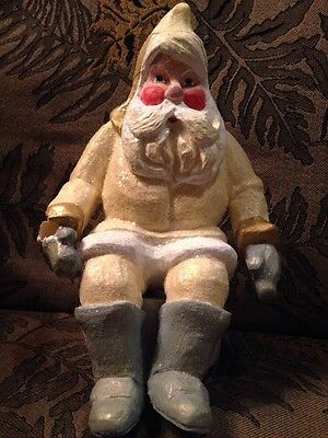 "1996 House of Hatten Calla Seated Santa/Elf Figurine 8-1/2"" Tall"