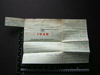 g0164 vintage 1949 Ontario Game Fisheries Fishing License Family Angling