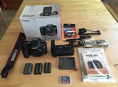 Canon EOS 40D 10.1MP Digital SLR Camera - Black (Body Only) (Speedlite 580EX...