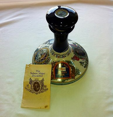 RARE Vintage ADMIRAL LORD NELSON PUSSER'S RUM Ship Decanter w/Original tag(Book)
