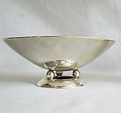 vintage antique  art deco round sterling ball footed dish server candy 5.5 inch