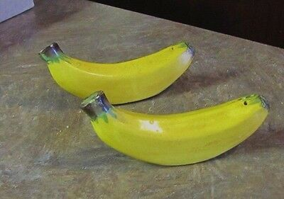 Vintage Laying Down Singles Banana Salt and Pepper Shakers Ceramic