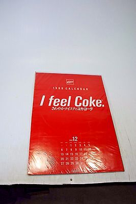 "1988 Coca Cola Calendar ""I Feel Coke"" NEW"