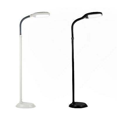 LED Floor Lamp Reading Light Standing Adjustable Flexible Gooseneck Home  Office