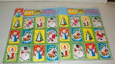 (24) Vintage 1980 Christmas Honeycomb Christmas Gift Tags Cards New Unused NOS