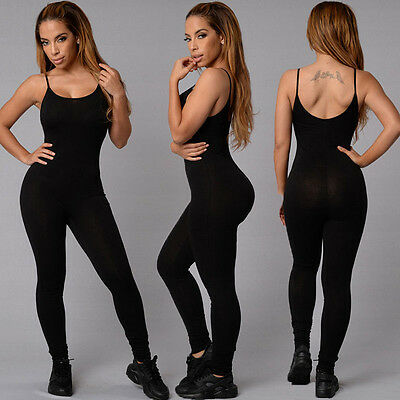 Womens Sports Yoga Running Fitness Leggings Pants Jumpsuit Athletic Trousers SP