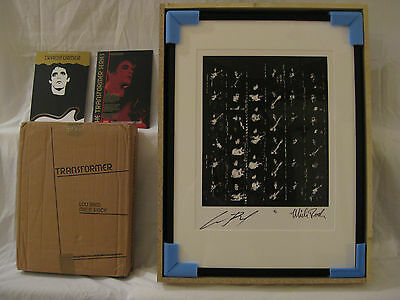 LOU REED Print (1 of 5) w/ Book (David Bowie; Velvet Underground; Andy Warhol)