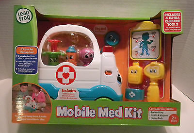 LEAP FROG Mobile Med Kit Includes Extra Checkup Tools NEW NIB ambulance doctor