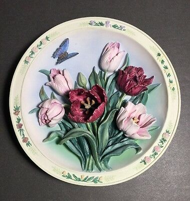 The Tulip Garden Plate #A11673 Lena Liu's Beautiful Gardens 1996 EC