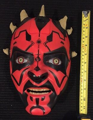 Darth Maul Sith Apprentice Electronic Talking Star Wars Mask!  Working!!