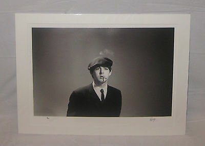 PAUL McCARTNEY (Signed) Print w/ COA (1 of only 25) by RINGO STARR (Beatles)