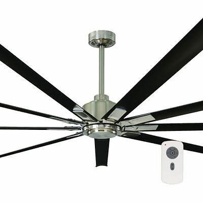 "NEW Mercator Rhino Industrial Style 95"" DC Ceiling Fan with Remote - FC479009-95"
