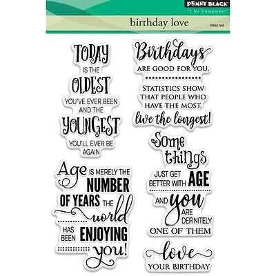 "Penny Black Clear Stamps 5""X7"" Sheet - Birthday Love"